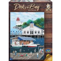 Holdson: 1000 Piece Puzzle - Dock Of The Bay (Laughing Gulls Landing)