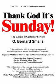 Thank God It's Sunday!: The Gospel of Customer Service by O. Bernard Smalls image