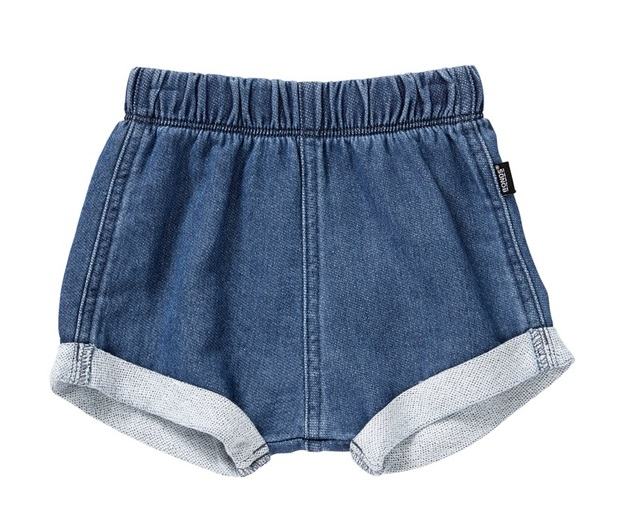 Bonds Chambray Short - Mid Blue (6-12 Months)