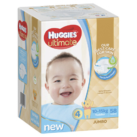 Huggies Ultimate Nappies: Jumbo Pack - Toddler Boy 10-15kg (58)