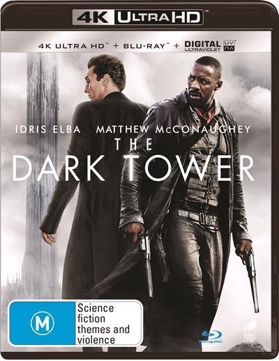The Dark Tower on Blu-ray, UHD Blu-ray, UV