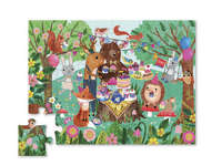 Crocodile Creek: Mini Shaped Puzzle - Garden Party (24pc) image