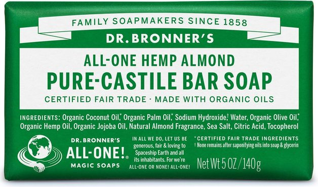 Dr. Bronner's Pure Castile Soap Bar - Almond (140g)
