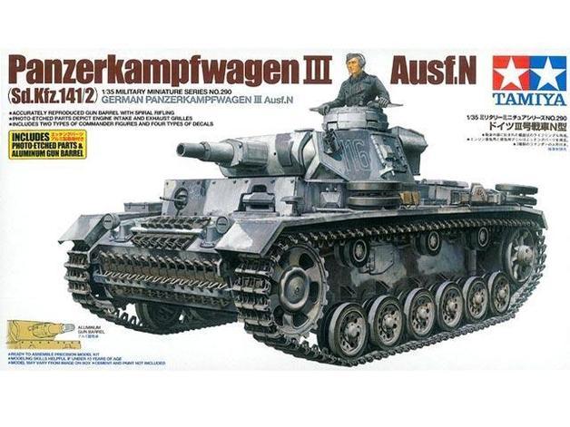 Tamiya German Pz.Kpfw.111 AUSF.N Tank 1:35 Model Kit