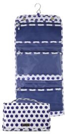 Wicked Sista: Navy Spots Tri-Fold Cosmetic Bag