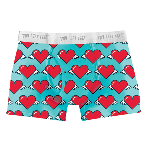 Two Left Feet: Love is in the Air Mens Everyday Trunks - Medium