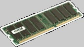 Crucial 1GB 184-pin DIMM DDR PC3200 NON-ECC CL=3
