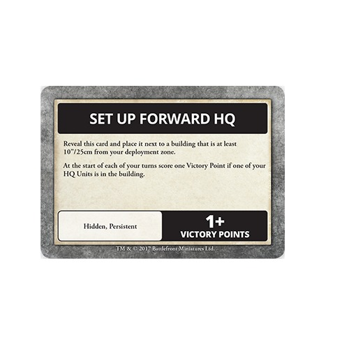 Flames of War: Fog of War - Objective Cards image