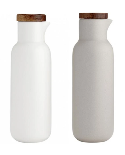 Ladelle: Essentials Oil & Vinegar Set - White/Stone