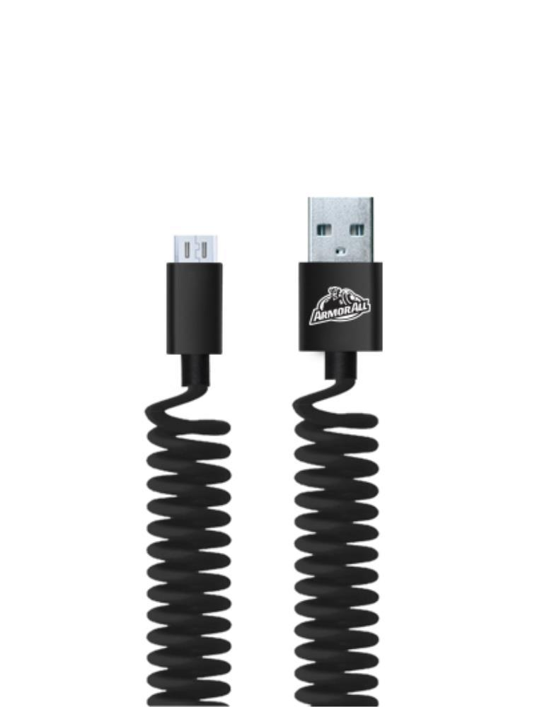 Armor All: Sync & Charge Coil Micro USB Cable (1.2M) image