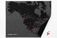 Palomar PinCountry Felt Travel Map Diary - North America