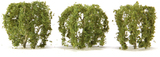 """JTT Scenic Weeping Willow Tree 2"""" (3 pk) - H0 Scale"""