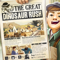 The Great Dinosaur Rush - Board Game image