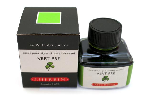J Herbin: Fountain Pen Ink - Vert Pre (30ml)