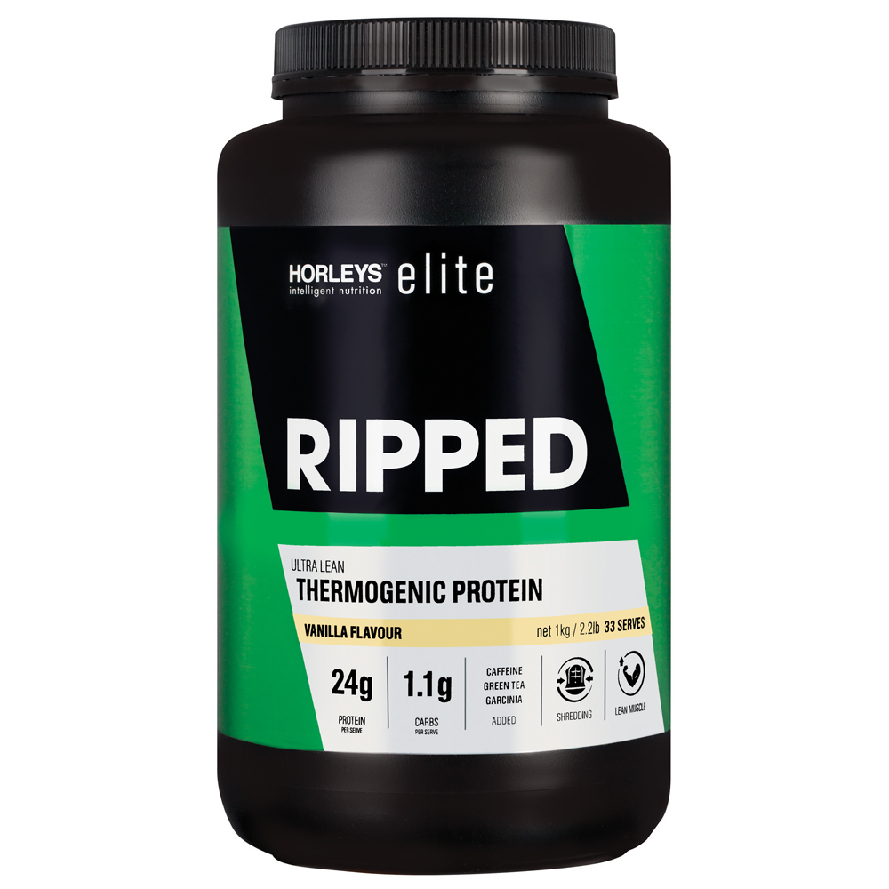 Horleys Ripped Thermogenic Protein - Vanilla (1kg) image