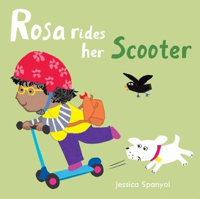 Rosa Rides her Scooter by Jessica Spanyol image