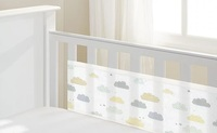 BreathableBaby: Breathable Mesh Cot Liner - 4 Sides (Cloud) image