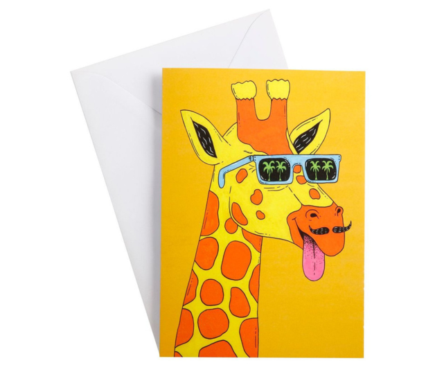 Maxwell & Williams: Mulga the Artist Greeting Card (Giraffe)