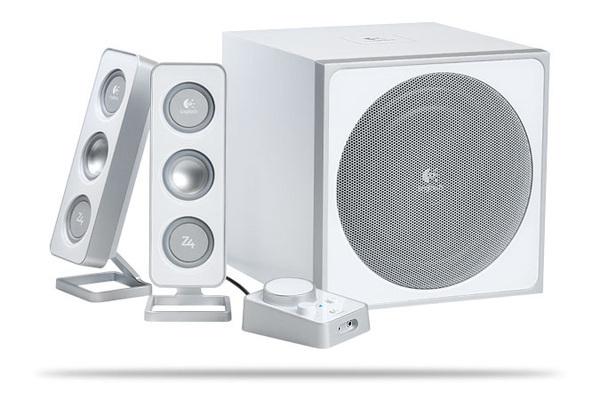 Logitech 2.1 Z4 Speaker System - White