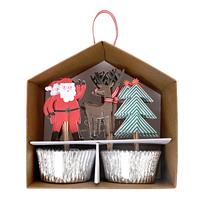 Meri Meri - Santa Cupcake Kit (24 Pack)
