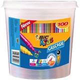 Bic: Kids Cascade Felt Tip Colouring Pens - Tub of 100