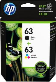 HP 63 Photo Value Ink Catridge Combo Pack- Black/Tri Colour