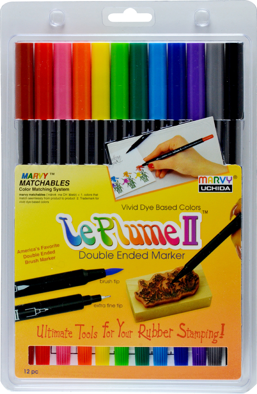 Marvy Le Plume II: Dual Tip Marker - Primary 12A (Set of12)