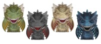 Game of Thrones - Dragons Dorbz Vinyl 4-Pack image