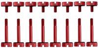 Corsair Crystal Series 570X Anodized Aluminum Thumbscrews - Red