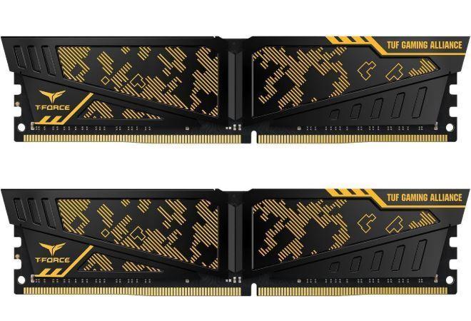 2x8GB Team VULCAN TUF Gaming Alliance 3000MHz DDR4 Gaming RAM image