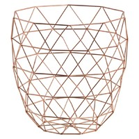 Basket - Metal Storage Copper