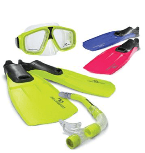 Land & Sea Adventure Mask/Snorkel/Fin Set - Small (Pink)