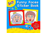 Funny Faces Sticker Book - by Galt