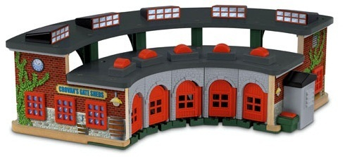 Thomas & Friends Wooden Railway - Deluxe Roundhouse Set | Toy | at ...