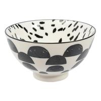 Etta Black and White Cresta Large Bowl (13.5cm)