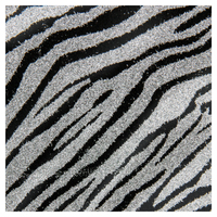 SKINZ Sparklz Printed Glitter Book Cover - Silver Stripes