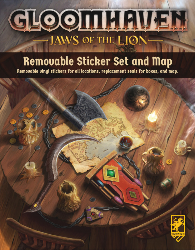 Gloomhaven: Jaws of the Lion - Removable Sticker Set & Map