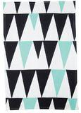 General Eclectic Tea Towel Peaks - Mint