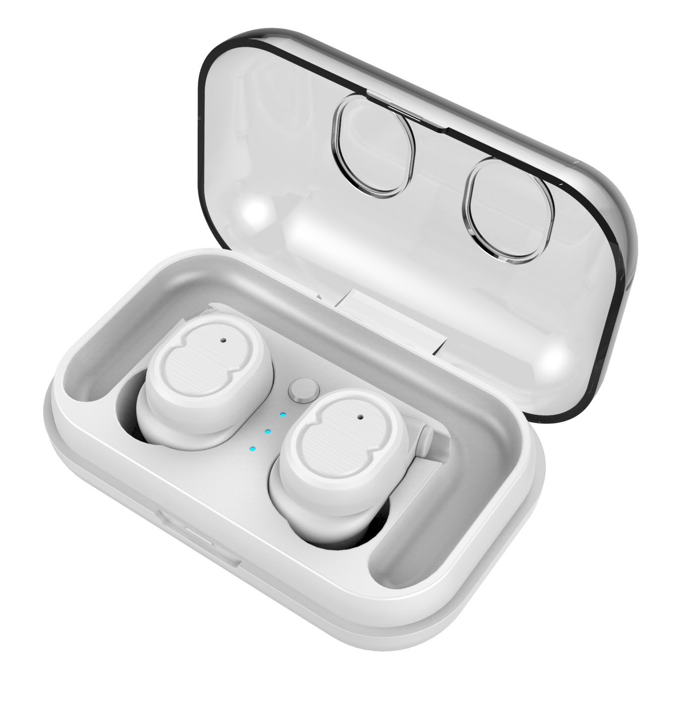 Wireless Stereo Sport Earphones - With Charging Box (White) image