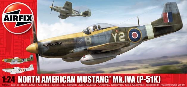 Airfix North American P-51K/RF Mustang 1:24 - Model Kit