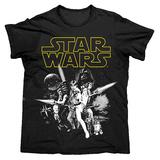 Star Wars Men's Tshirt - Black L
