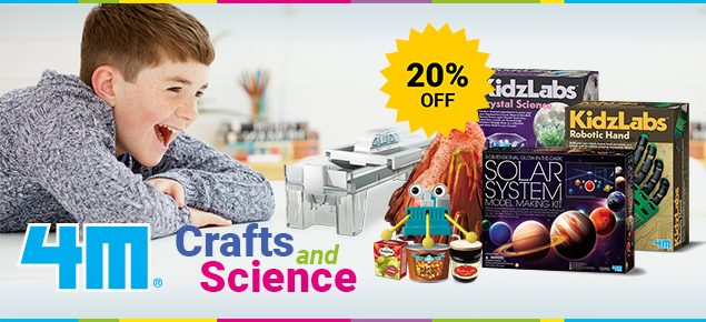 20% off 4M Craft & Science!