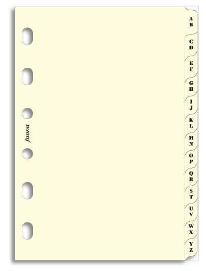 Filofax - Pocket A-Z Index, 2 Letters/Tab - Cream image