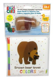 Eric Carle: Bath Book & Squirter Set - Brown Bear