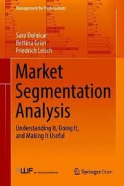 Market Segmentation Analysis by Sara Dolnicar