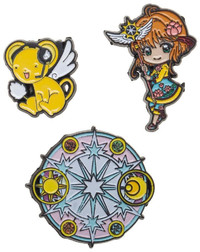 Cardcaptor Lapel Pin Set (3 Pack)