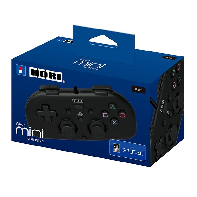 PS4 Mini Wired Gamepad (Black) by Hori for PS4