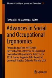 Advances in Social and Occupational Ergonomics image