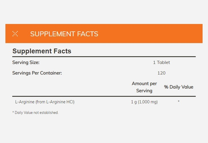 Now Foods: L-Arginine Double Strength (1000 mg) image