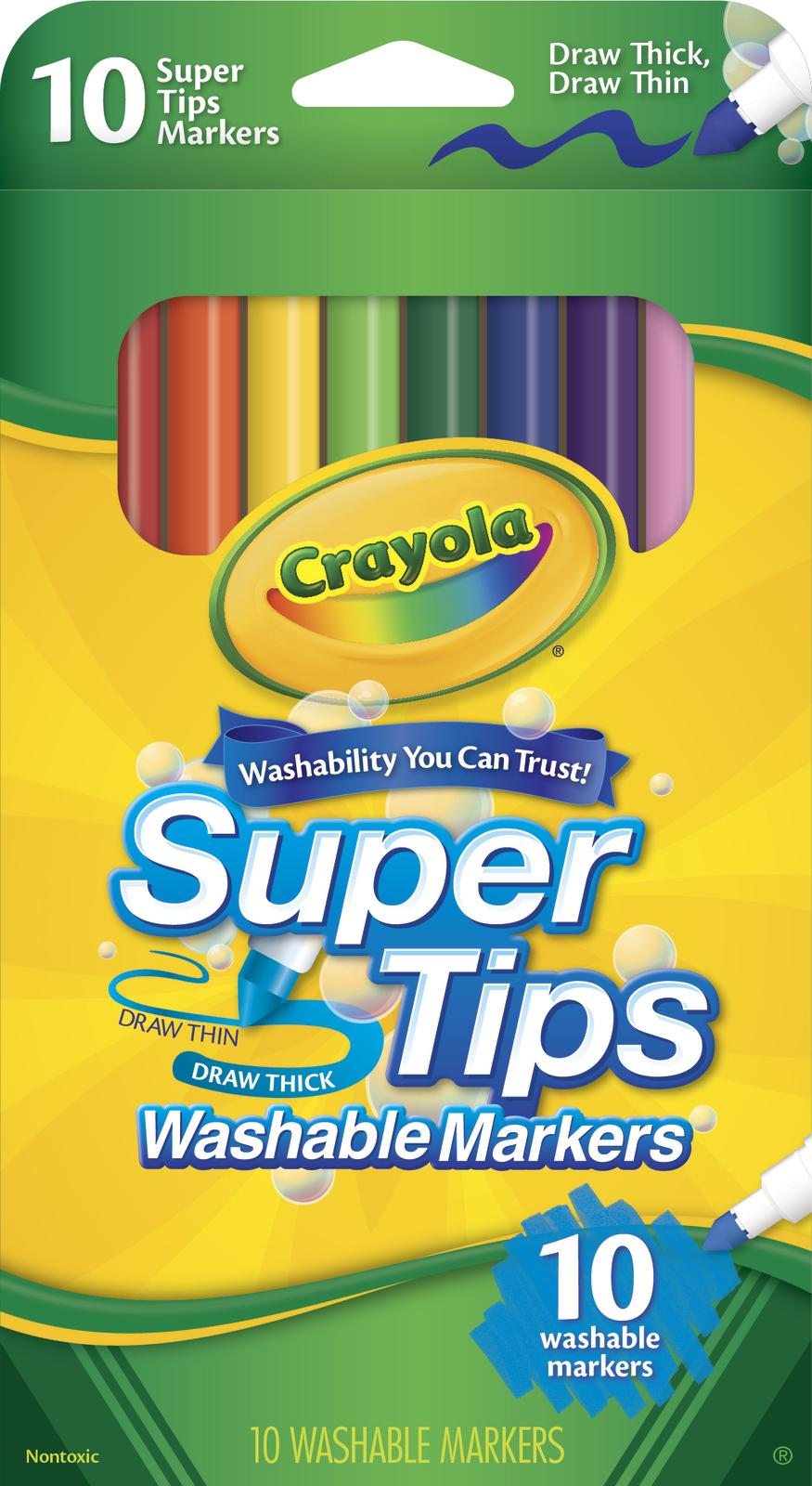 10 Washable Super Tips Markers - Crayola image